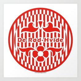 Denmark De Rød-Hvide (The Red-White) ~Group C~ Art Print