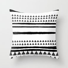 handrawn lines Throw Pillow