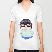 korea V-neck T-shirts featuring Korea by amaiaacilu