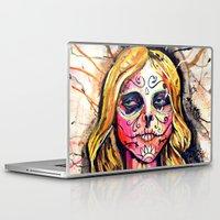 dia de los muertos Laptop & iPad Skins featuring Dia De Los Muertos by Liz Haywood