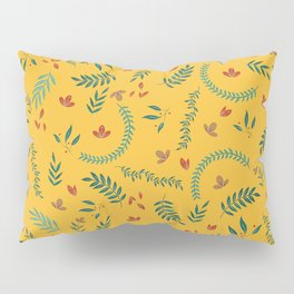 Leves in Yellow Ochre Pillow Sham