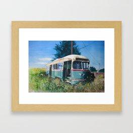 Final Stop Framed Art Print
