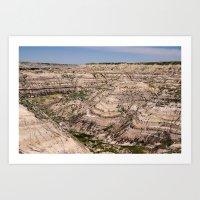 Horse Thief Canyon - Drumheller, Alberta. Art Print