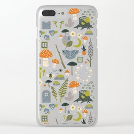 Fairy Garden Clear iPhone Case