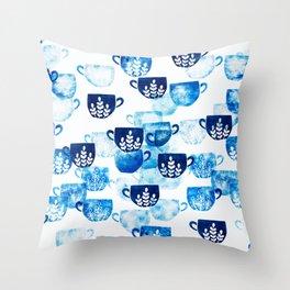 Mug art collection Throw Pillow