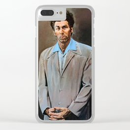 Kramer Seinfeld Painting Clear iPhone Case