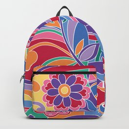Happy hippy, the 70s free spirit Backpack