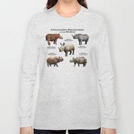 Endangered Rhinoceros of the World Long Sleeve T-shirt