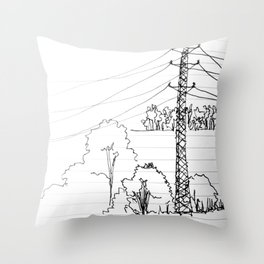 view from train Throw Pillow