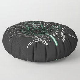Hot Rod Pinstriping Floor Pillow
