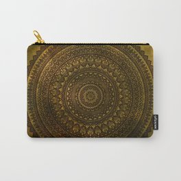 Lime Brown Mandala Carry-All Pouch