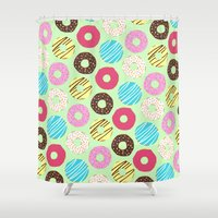 donut Shower Curtains featuring Donut by Charlotte Lucy