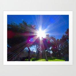 Star Pattern Sunlight Art Print