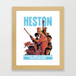 Heston! Framed Art Print