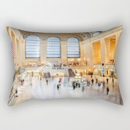 Shadows of Grand Central Rectangular Pillow