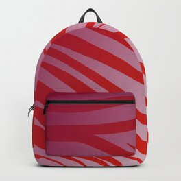 tiger wild lines pink  red -- SUNSET Backpack