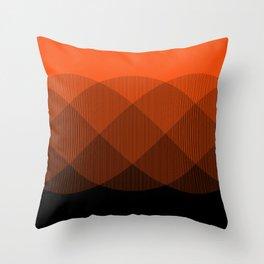 Orange to Black Ombre Signal Throw Pillow