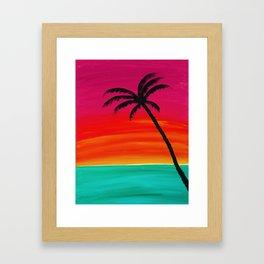 Sunset Palm 2 Framed Art Print