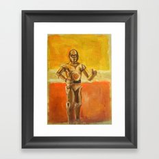 C3PO and Rothko Framed Art Print