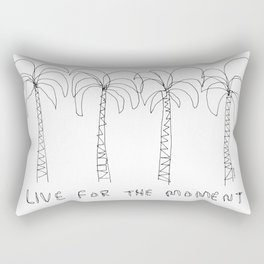 Live For The Moment no.2 - palm trees illustration summer California Hawaii tropical beach shore Rectangular Pillow