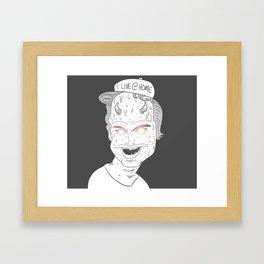 """Modern Cautionary Tale"" Framed Art Print"