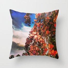Cherry Bumble Throw Pillow