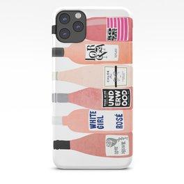 Rose Wine Bottles iPhone Case