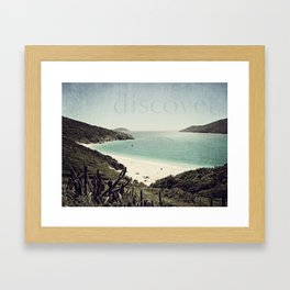 discover. {Arraial do Cabo Framed Art Print
