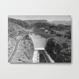 Black and White Hoover Dam - Nevada/Arizona Metal Print