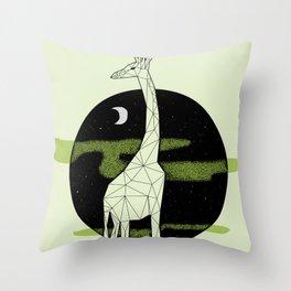 Giraffe in geometric style Throw Pillow