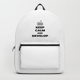 Keep calm and develop Backpack