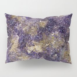 Writings in the Sky the Night Galaxy watercolor by CheyAnne Sexton Pillow Sham