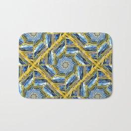 golden day kaleidoscope pattern Bath Mat