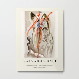 "Poster-Salvador Dali-The Exhibition ""The Divine comedy"" 2. Metal Print"
