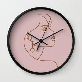 Juliette Line Drawing Wall Clock
