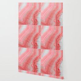 Coral Pink Agate Wallpaper