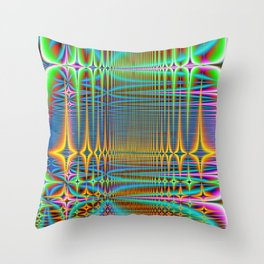 cooled server farm Throw Pillow