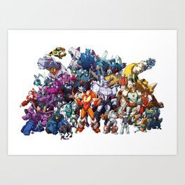 30 Days of Transformers - More Than Meets The Eye cast Art Print