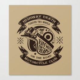 Retro Helmet Motorcycle Canvas Print