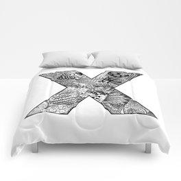 Cutout Letter X Comforters