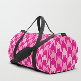 Pink Catstooth Pattern Duffle Bag