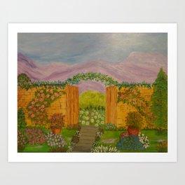 Beyond The Gate Acrylic Painting by Rosie Foshee Art Print