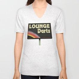 Lounge Darts sign Unisex V-Neck