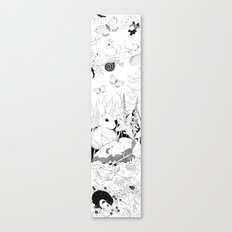 Woodland critters (uncoloured) Canvas Print