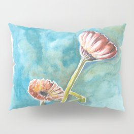 Blooms on Turquoise Pillow Sham