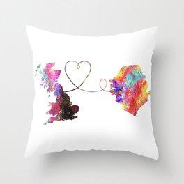 Britain to Sierra Leone  Quote Art Design Inspirat Throw Pillow