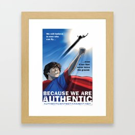 Authentic Productions Entertainment poster Framed Art Print