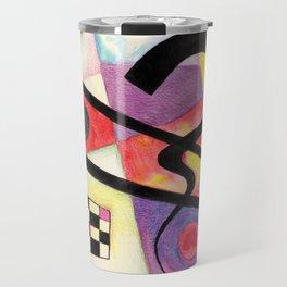 Abstract composition no 1 - Love Kandinsky Travel Mug