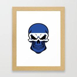 Honduran Flag Skull Framed Art Print