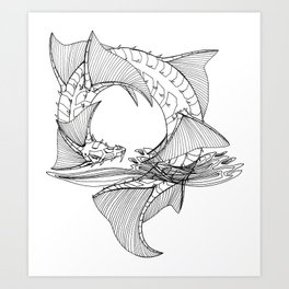 Spiral seadragon Art Print